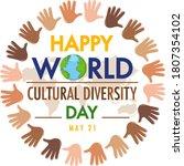 happy world cultural diversity...   Shutterstock .eps vector #1807354102