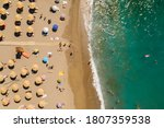 Matala Beach In Crete  Greece   ...