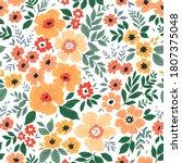 beautiful floral pattern in... | Shutterstock .eps vector #1807375048