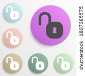 open lock badge color set....