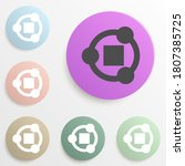 share sign badge color set....