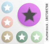 star badge color set. simple...