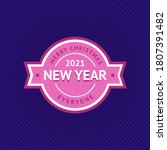 happy new year and merry... | Shutterstock .eps vector #1807391482