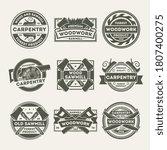 woodwork company logo.... | Shutterstock .eps vector #1807400275