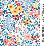 trendy seamless vector floral...   Shutterstock .eps vector #1807401322