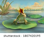 Frog Prince Waiting On A Water...