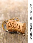 Champagne Cork With Year Date...
