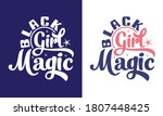 black girl magic printable... | Shutterstock .eps vector #1807448425