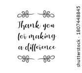 thank you for making a... | Shutterstock .eps vector #1807448845