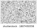 pharmacy doodle set. collection ...   Shutterstock .eps vector #1807450558