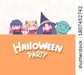halloween festival concept... | Shutterstock .eps vector #1807452742