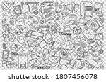 post office doodle set....   Shutterstock .eps vector #1807456078