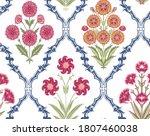 fantasy botanical flowers in... | Shutterstock .eps vector #1807460038