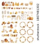 set of autumn vector... | Shutterstock .eps vector #1807481302