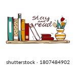vector illustration of a shelf... | Shutterstock .eps vector #1807484902