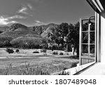 A Mountain View Through The...
