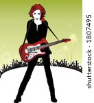 beautyful girl in black with... | Shutterstock .eps vector #1807495