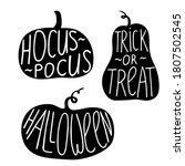 hand drawn doodle pumpkin... | Shutterstock .eps vector #1807502545