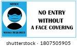 wear face mask notice. wear... | Shutterstock .eps vector #1807505905