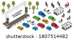 isometric icons set with open...   Shutterstock .eps vector #1807514482