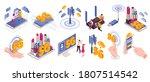 isometric 5g internet color set ... | Shutterstock .eps vector #1807514542