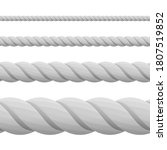 Set Of Ropes  Isolated On Whit...