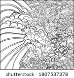 doodle and outline japanese... | Shutterstock .eps vector #1807537378