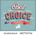 best choice typographic design. ... | Shutterstock .eps vector #180754766