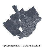 Quebec Map. Detailed Vector Map ...
