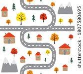 vector seamless pattern of...   Shutterstock .eps vector #1807580695