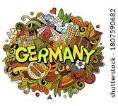 germany hand drawn cartoon...   Shutterstock .eps vector #1807590682