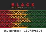 black history month. african... | Shutterstock .eps vector #1807596805