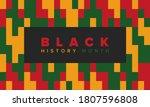 black history month. african... | Shutterstock .eps vector #1807596808