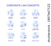 corporate law concept icons set....   Shutterstock .eps vector #1807667122