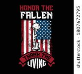 honor the fallen thank the... | Shutterstock .eps vector #1807672795