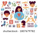 vector set of self care icons.... | Shutterstock .eps vector #1807679782
