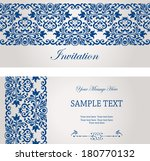 set of antique greeting card ... | Shutterstock .eps vector #180770132