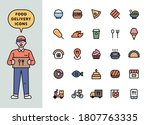a deliveryman character... | Shutterstock .eps vector #1807763335