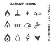 element icons  mono vector...
