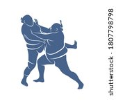 sumo fighter logo design... | Shutterstock .eps vector #1807798798