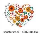 Heart Shape With Winter Flower...