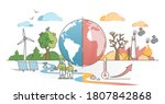 climate change with weather... | Shutterstock .eps vector #1807842868