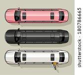 three long luxury limousine for ... | Shutterstock .eps vector #180786665