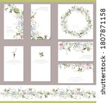 square greeiting card with...   Shutterstock .eps vector #1807871158