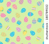 seamless easter pattern with... | Shutterstock . vector #180789032