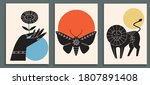 abstract poster collection with ... | Shutterstock .eps vector #1807891408