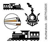 Train Locomotive Set Collectio...