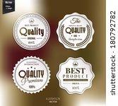 vector set of retro stamp ... | Shutterstock .eps vector #180792782