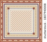 Ethnic Scarf Pattern With Brown ...