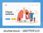 pulmonology and asthma disease... | Shutterstock .eps vector #1807959115